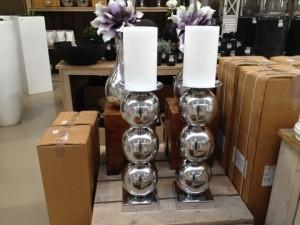 Kerzenständer aus Aluminium, Höhe 65 cm