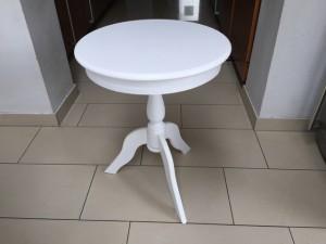 Runder Beistelltisch im Landhausstil, weiß, Durchmesser 50 cm