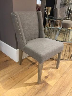 Stuhl gepolstert Landhaus, Stuhl grau gepolstert
