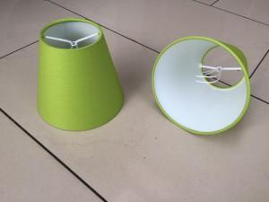 KIemmschirm grün, Steckschirm grün für Kronleuchter, Aufsteckschirm grün  Ø 14 cm