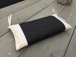 Nackenkissen schwarz-weiß  für Liegestuhl, Nackenkissen 100 % Baumwolle