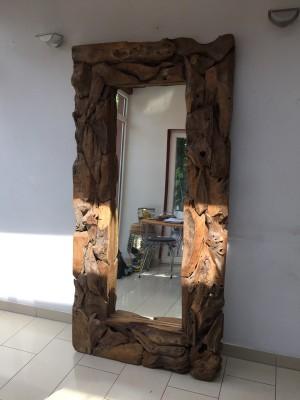 Spiegel Altholz-Rahmen, Wandspiegel, Maße 200x100 cm