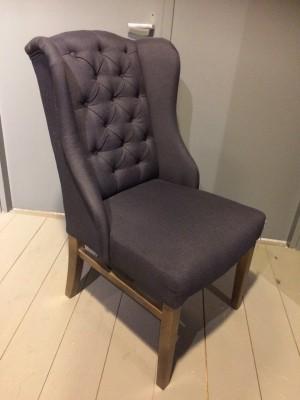Stuhl gepolstert, Polsterstuhl Chesterfield,  Farbe anthrazit