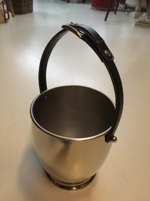 Champagnekühler Farbe Silber, Sektkühler, Weinkühler verchromt, Ø 25 cm