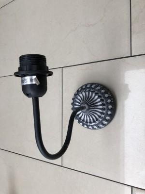 Wandlampe schwarz-grau Landhaus, Wandleuchte grau Landhausstil