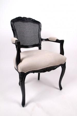 Barock Stuhl, gepolstert, Stuhl im Landhausstil