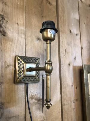 Wandleuchte Bronze, Wandlampe rund für Lampenschirme