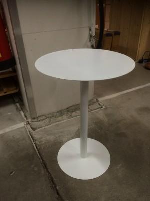 Beistelltisch weiß,  Tisch Metall weiß, Durchmesser 45 cm