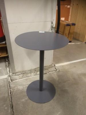 Beistelltisch grau,  Tisch Metall grau, Durchmesser 45 cm