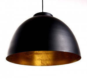 Moderne Pendelleuchte, Pendellampe Ø  45 cm, Farbe schwarz-gold