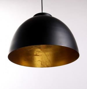 Moderne Pendelleuchte, Hängelampe Farbe Schwarz-Gold, Durchmesser 30 cm
