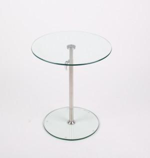 Glas Beistelltisch, Durchmesser 45 cm