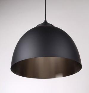 Moderne Pendelleuchte, Farbe Schwarz-Nickel, Ø 30 cm