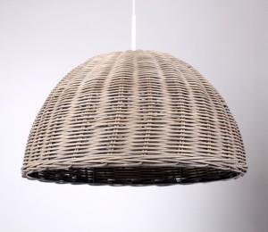 Pendelleuchte,  Lampenschirm Rattan, Ø 53 cm