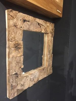 Spiegel Altholz, Wandspiegel Altholz, Maße 80x80 cm