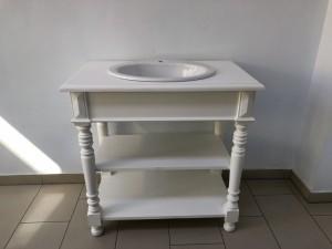 Waschtisch Weiß Landhaus, Badmöbel Weiß Im Landhausstil, Waschtisch  Landhaus Weiß, Breite 90 Cm