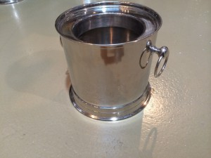 Sektkühler, Weinkühler verchromt, Ø 23 cm