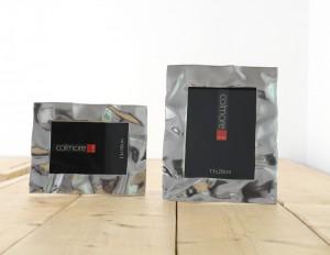 Bilderrahmen aus Aluminium, Bilderrahmen Silber, Maße 13 x 18 cm