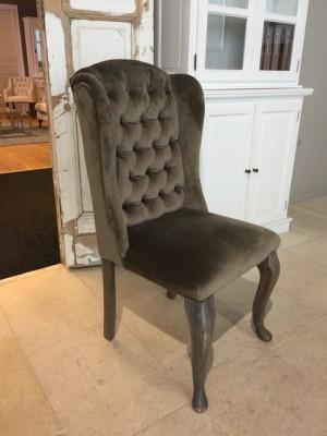 Stuhl braun gepolstert in verschiedenen Farben, Stuhl mit Ring, Stuhl chesterfield