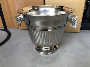 Sektkühler Silber, Weinkühler verchromt,  Ø 29 cm