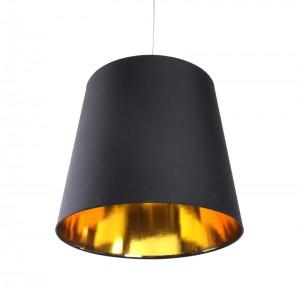Pendelleuchte schwarz/gold, Lampenschirm, Durchmesser 45 cm