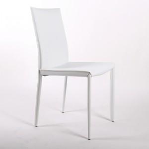 Stuhl aus Lederfaserstoff / Echtleder,  Farben weiß