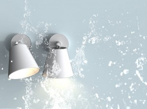 LED Moderne Badwandleuchte, Farbe weiß, Ø 12,5 cm