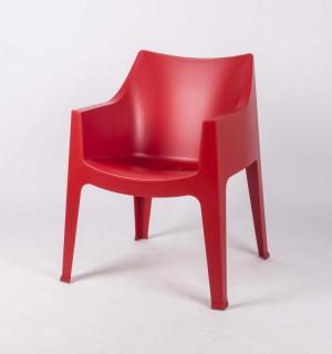 Gartenstuhl rot, Garten-Sessel rot Kunststoff, Stuhl rot stapelbar