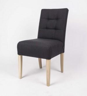 Klassischer Stuhl gepolstert, Farbe anthrazit
