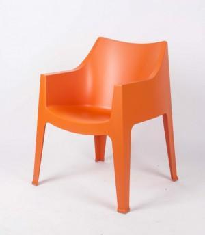 Sessel orange Kunststoff, Gartemstuhl orange, stapelbar, Gartensessel orange