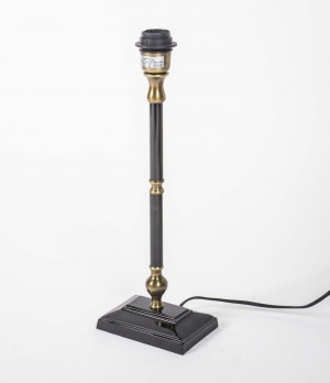 Lampenfuß schwarz- Bronze antik für eine Tischleuchte, Höhe 43 cm