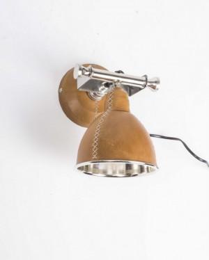 Wandleuchte Braun, Wandlampe mit Lampenschirm, Ø 25 cm
