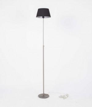 Stehlampe mit einem schwarzen Lampenschirm,  Stehleuchte, Höhe 93-175 cm