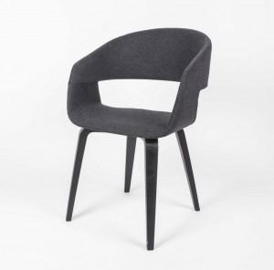 Stuhl gepolstert mit einem Gestell aus Massivholz, Stuhl Farbe Grau