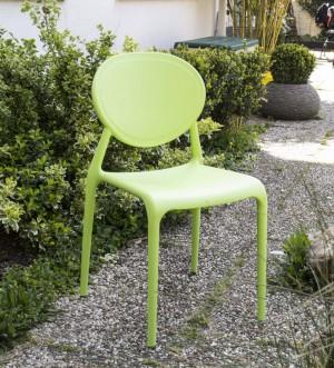 Outdoor Stuhl Kunststoff, Gartenstuhl Farbe Grün