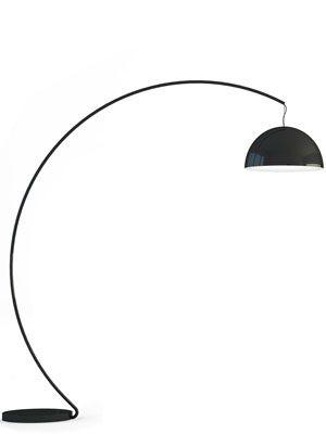 Design - Bogenleuchte mit einem Lampenschirm,  Stehlampe, Lampenschirm Ø 52 cm