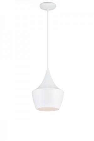 Hängelampe Weiß, Hängeleuchte, Pendelleuchte, Durchmesser 24 cm