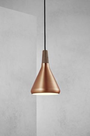 Moderne Pendelleuchte Kupfer, Hängeleuchte, Farbe Kupfer,  Ø 18 cm