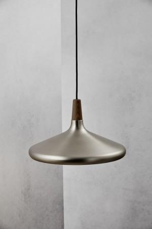 Moderne Pendelleuchte, Hängeleuchte, Farbe Edelstahl satiniert,  Ø 39 cm