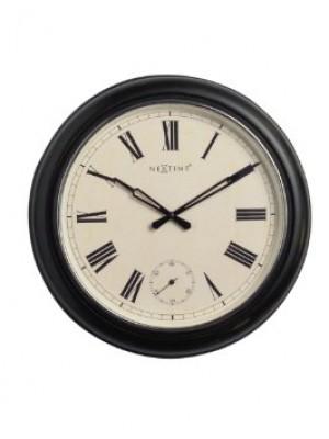 Nextime Wanduhr schwarz beige weiß classic klassisch Landhausstil Ø 40 cm