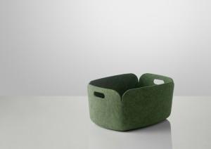 Aufbewahrungskorb aus Filz in grün