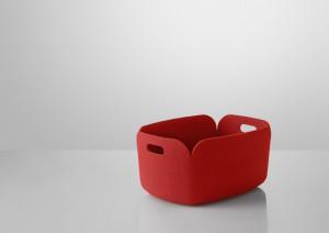 Aufbewahrungskorb aus Filz in rot