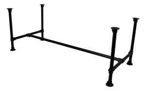 Tischgestell schwarz Industriedesign, Rohr-Gestell schwarz,  Rohrgestell Metall, Maße 180-200 cm