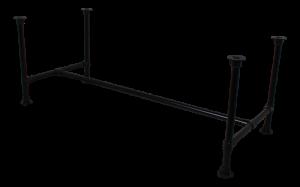 Tischgestell schwarz Industriedesign, Rohr-Gestell schwarz,  Rohrgestell Metall, Maße 220-240 cm