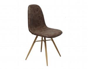 Design Stuhl in braun Industriestil Beine Buchenlook