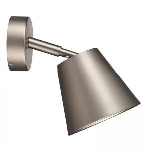 LED Moderne Badwandleuchte, Farbe Stahl matt/ anthrazit, Ø 12,5 cm