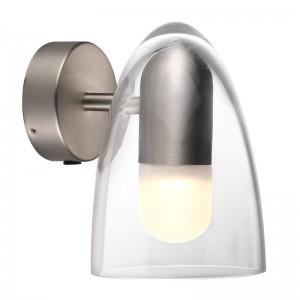 LED Moderne Badwandleuchte, Farbe Stahl matt/ anthrazit, Ø 14 cm