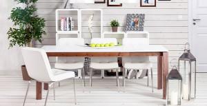 Esstisch verlängerbar, Konferenztisch weiß, Auszugstisch 150-200 cm,  Tisch