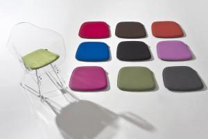 Sitzkissen aus Filz in verschiedenen Farben