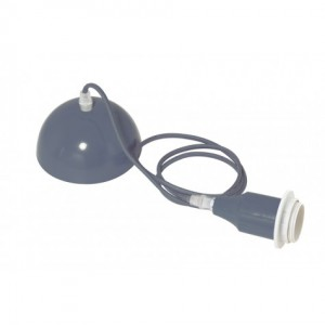 Lampenkabel grau für Hängeleuchte, Leuchtenkabel grau, Textilkabel für Hängelampe